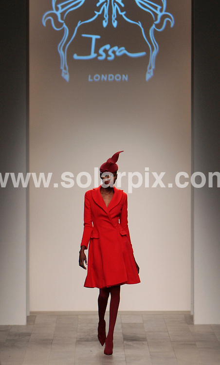 **ALL ROUND PICTURES FROM SOLARPIX.COM**                                             **NO UK NEWSPAPER PUBLICATION**.**UK MAGAZINE & SUPPLEMENT PUBLICATION ONLY** AND NO PUBLICATION IN AUSTRALIA, BELGIUM, FRANCE, GERMANY, ITALY, SCANDINAVIA AND USA**                                                                                  Caption:  Daniella Issa Fashion Collection 2011 at Somerset House in London, UK                                                                    This pic:  Models on the catwalk                                                                                            JOB REF:12840        SFE       DATE:19.02.2011                                                            **MUST CREDIT SOLARPIX.COM OR DOUBLE FEE WILL BE CHARGED**                                                                      **MUST AGREE FEE BEFORE ONLINE USAGE**                               **CALL US ON: +34 952 811 768 or LOW RATE FROM UK 0844 617 7637**