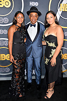 LOS ANGELES, USA. September 23, 2019: Giancarlo Esposito, Ruby Esposito & Syr Esposito at the HBO post-Emmy Party at the Pacific Design Centre.<br /> Picture: Paul Smith/Featureflash