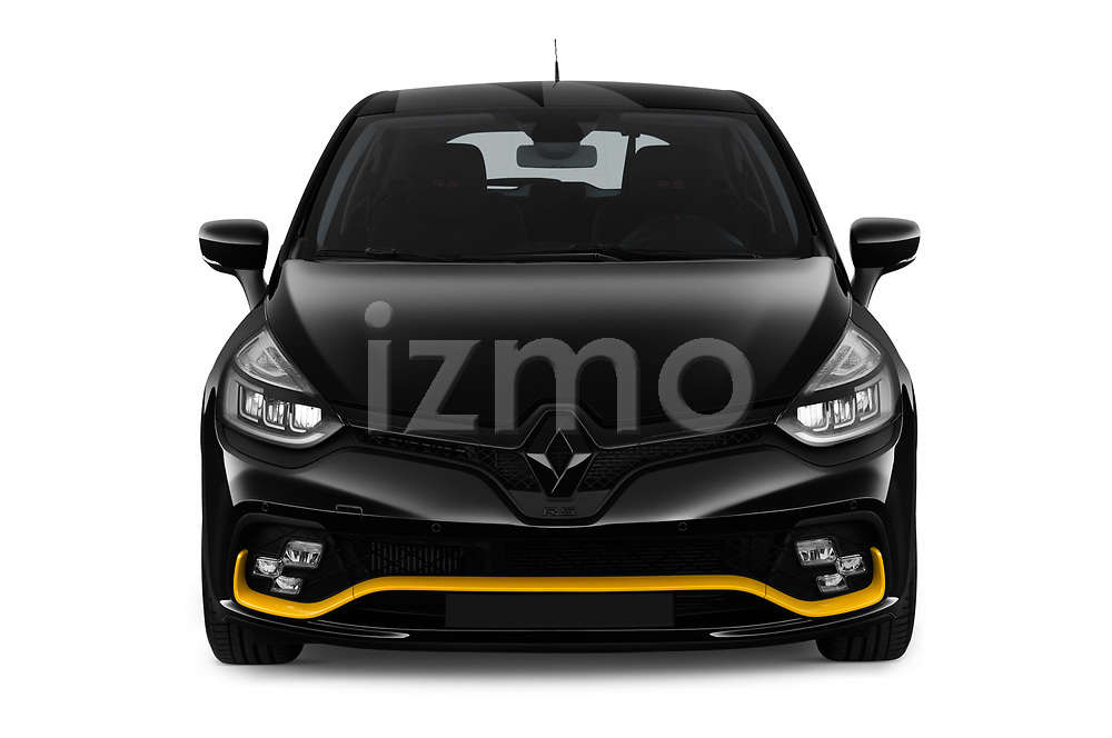 Car photography straight front view of a 2018 Renault Clio RS Final Edition 5 Door Hatchback