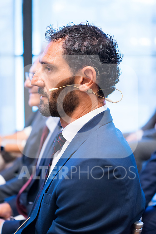 President of Spanish Federation of Basketball Jorge Garbajosa during the official presentation of Spanish National Team of Basketball.  July 24, 2019. (ALTERPHOTOS/Francis Gonzalez)