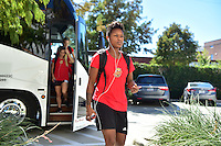 Houston, TX - Sunday Oct. 09, 2016: Taylor Smith prior to a National Women's Soccer League (NWSL) Championship match between the Washington Spirit and the Western New York Flash at BBVA Compass Stadium.