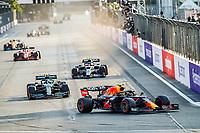6th June 2021; F1 Grand Prix of Azerbaijan, Race Day;  11 PEREZ Sergio (mex), Red Bull Racing Honda RB16B celebrating his victory during the Formula 1 Azerbaijan Grand Prix 2021 at the Baku City Circuit