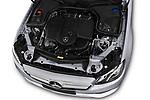 Car stock 2018 Mercedes Benz E Class Business Solution 4 Door Sedan engine high angle detail view