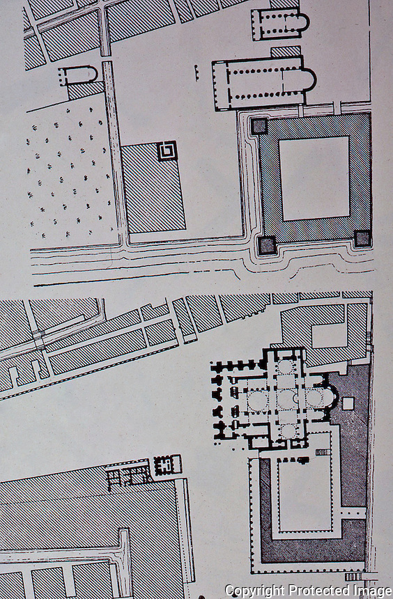 Venice:  Piazza San Marco, Plan 1--Evolution of Piazza.   Reference only.