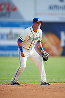 Hartford Yard Goats shortstop Pat Valaika (10) during the first game of a doubleheader against the Trenton Thunder on June 1, 2016 at Sen. Thomas J. Dodd Memorial Stadium in Norwich, Connecticut.  Trenton defeated Hartford 4-2.  (Mike Janes/Four Seam Images)