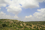 Israel, Jerusalem mountains, a view of Bet Itab