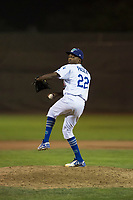 Ogden Raptors relief pitcher Luis Pasen (22) delivers a pitch during a Pioneer League game against the Great Falls Voyagers at Lindquist Field on August 23, 2018 in Ogden, Utah. The Ogden Raptors defeated the Great Falls Voyagers by a score of 8-7. (Zachary Lucy/Four Seam Images)