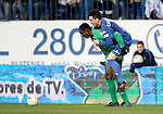 Espanyol's Carlos Kameni and Jose Callejon joke during UNICEF match. December, 29 2010. (ALTERPHOTOS/Alvaro Hernandez)