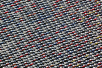 aerial photograph of rows of imported cars at the Port of Benicia, Solano County, California