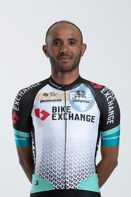 Tsgabu Grmay (ETH) Team BikeExchange men's squad potrait, Spain. 22nd January 2021.<br /> Picture: Sara Cavallini/GreenEDGE Cycling | Cyclefile<br /> <br /> All photos usage must carry mandatory copyright credit (© Cyclefile | Sara Cavallini/GreenEDGE Cycling)