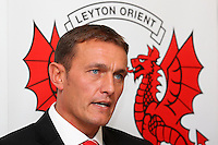 Leyton Orient manager Ian Hendon address the media - Leyton Orient FC Press Conference to announce new manager Ian Hendon at Brisbane Road, Leyton Orient FC, Leyton, London - 29/05/15 - MANDATORY CREDIT: Gavin Ellis/TGSPHOTO - Self billing applies where appropriate - contact@tgsphoto.co.uk - NO UNPAID USE
