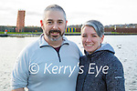 Brian and Majella Moynihan enjoying a stroll in the Tralee Bay Wetlands on Friday