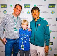 Rotterdam, The Netherlands, 12 Februari 2019, ABNAMRO World Tennis Tournament, Ahoy,  Meet and greet with Kei Nishikori (JPN) <br /> Photo: www.tennisimages.com/Henk Koster