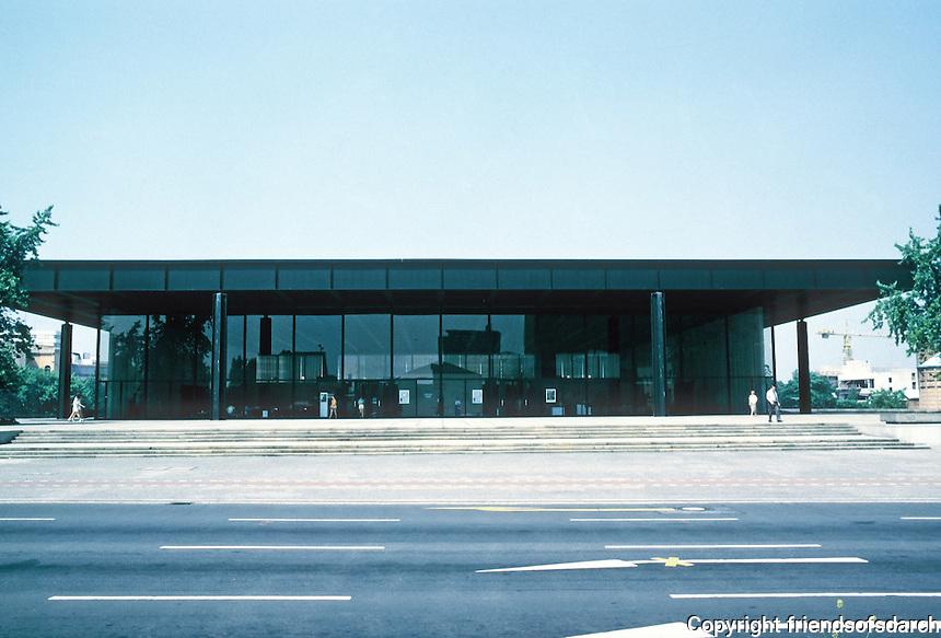 Mies van der Rohe: New National Gallery, Berlin 1962-68.