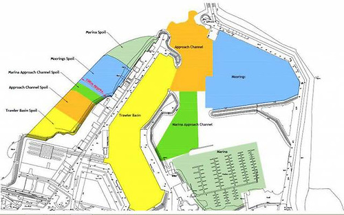 The current plan for the phased dredging of Howth Harbour also indicates the stages for the creation of new land to the westward of the harbour. With the dredging area now clearly defined, alterations in the timeline and order of work might be a possibility, but either way, it will be quite a lengthy process.