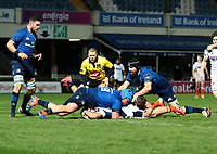 16th November 2020; RDS Arena, Dublin, Leinster, Ireland; Guinness Pro 14 Rugby, Leinster versus Edinburgh; Nic Groom (Edinburgh) stretches out to score a try
