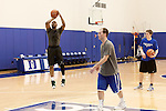 December 14, 2012. Durham, North Carolina..  Jay Williams plays pickup basketball on the Duke practice courts. Williams still lives in Durham, although he is gone frequently for work trips for ESPN.. Jay Williams, a former point guard for the Chicago Bulls, is now a college basketball analyst for ESPN. Williams was a freshman all american at Duke University and helped lead the Blue Devils to a NCAA National Championship in 2001. . After being drafted in 2002 to the Chicago Bulls, he played one season in the NBA before his basketball career was ended by a serious motorcycle accident which nearly took his life.