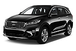 2018 KIA Sorento GT Line 5 Door SUV angular front stock photos of front three quarter view