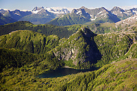 Aerial Chugach Mountains, eastern Prince William Sound, Chugach National Forest, Alaska.