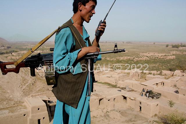 Khogebha Hoddin, Afghanistan October 2001<br /> <br /> The Northern Alliance on the front lines near Khogebha Hoddin.