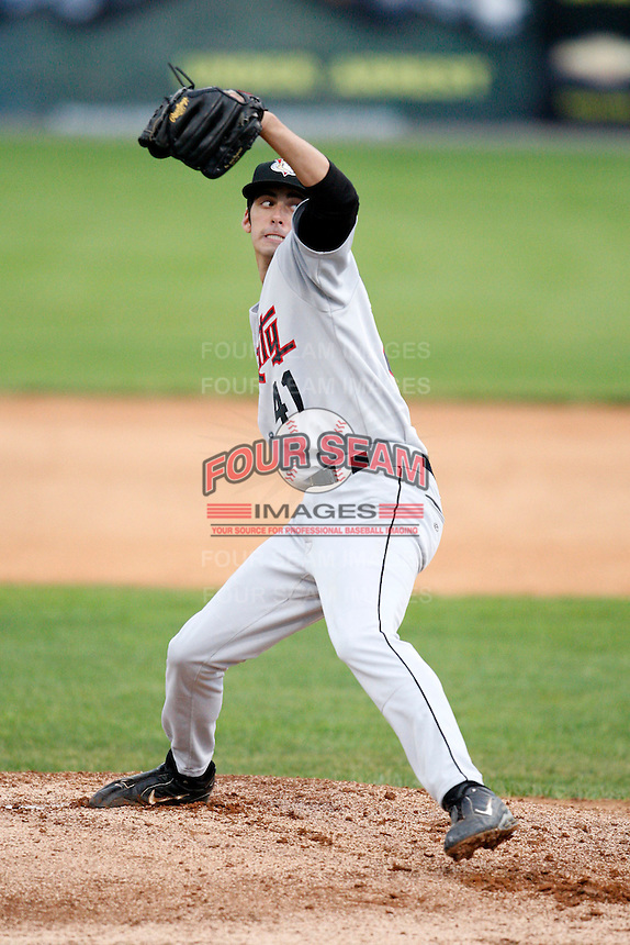 July 17, 2009:  Pitcher Zach Grimmett of the Tri-City ValleyCats during a game at Dwyer Stadium in Batavia, NY.  The ValleyCats are the Short-Season Class-A affiliate of the Houston Astros.  Photo By Mike Janes/Four Seam Images