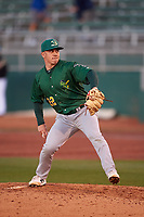 Beloit Snappers relief pitcher Reid Birlingmair (22) during a Midwest League game against the Lansing Lugnuts at Cooley Law School Stadium on May 4, 2019 in Lansing, Michigan. Beloit defeated Lansing 2-1. (Zachary Lucy/Four Seam Images)