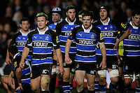 Michael Claassens of Bath Rugby (left) watches the replay as Leicester Tigers score during the LV= Cup semi final match between Bath Rugby and Leicester Tigers at The Recreation Ground, Bath (Photo by Rob Munro, Fotosports International)