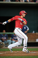 Harrisburg Senators third baseman Matt Skole (16) at bat during a game against the New Hampshire Fisher Cats on July 21, 2015 at Metro Bank Park in Harrisburg, Pennsylvania.  New Hampshire defeated Harrisburg 7-1.  (Mike Janes/Four Seam Images)