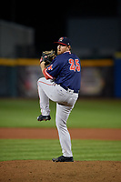 Portland Sea Dogs pitcher Matthew Gorst (25) during an Eastern League game against the Erie SeaWolves on June 17, 2019 at UPMC Park in Erie, Pennsylvania.  Portland defeated Erie 6-3.  (Mike Janes/Four Seam Images)