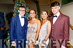Niall Hurley, Sarah Healy, Niamh Ryan and Luke O'Carroll attending the Mercy Mounthawk Debs in the Ballyroe Heights Hotel on Friday.