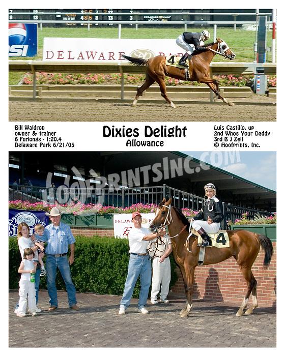 Dixie's Delight winning at Delaware Park on 6/21/05