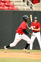 """September 15, 2009:  Dale """"D.K."""" Carey, one of many top prospects in action, taking part in the 18U National Team Trials at NC State's Doak Field in Raleigh, NC.  Photo By David Stoner / Four Seam Images"""