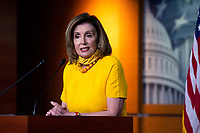 Speaker of the United States House of Representatives Nancy Pelosi (Democrat of California) speaks during her weekly press conference at the United States Capitol in Washington D.C., U.S., on Thursday, June 11, 2020.  Credit: Stefani Reynolds / CNP/AdMedia