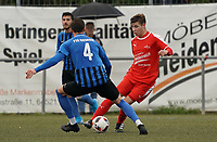 Thorben Dorer (Büttelborn) gegen Sören Heidrich (Riedrode) - Büttelborn 03.10.2019: SKV Büttelborn vs. FSG Riedrode, Gruppenliga Darmstadt