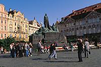 Tschechien, Prag, Altstaedter Ring, Hus-Denkmal, Unesco-Weltkulturerbe