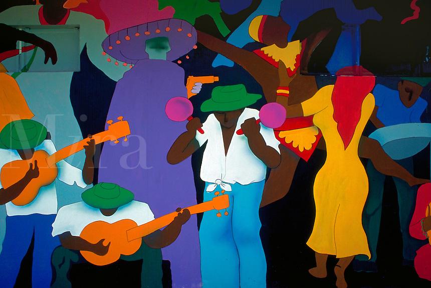 Mural in Queens Park Savannah, Port of Spain, Trinidad