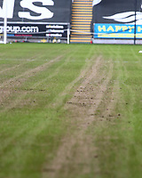 19th December 2020; Liberty Stadium, Swansea, Glamorgan, Wales; English Football League Championship Football, Swansea City versus Barnsley; The pitch at The Liberty Stadium is in poor condition before the game