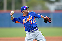 New York Mets third baseman Jairo Perez (74) during a minor league spring training game against the St. Louis Cardinals on March 27, 2014 at the Port St. Lucie Training Complex in Port St. Lucie, Florida.  (Mike Janes/Four Seam Images)