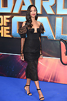 "Zoe Saldana<br /> at the ""Guardians of the Galaxy 2"" premiere held at the Hammersmith Apollo, London. <br /> <br /> <br /> ©Ash Knotek  D3257  24/04/2017"