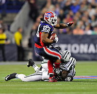 3 December 2009: Buffalo Bills' running back Marshawn Lynch (23) in action against the New York Jets at the Rogers Centre in Toronto, Ontario, Canada. The Bills fell to the Jets 19-13. Mandatory Credit: Ed Wolfstein Photo