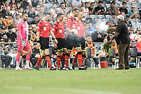 3rd January 2021; Campbelltown Stadium, Leumeah, New South Wales, Australia; A League Football, Macarthur FC versus Central Coast Mariners; An aboriginal welcome to country ceremony is conducted before kick off