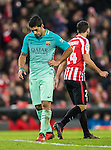 Luis Suarez of FC Barcelona reacts during their Copa del Rey Round of 16 first leg match between Athletic Club and FC Barcelona at San Mames Stadium on 05 January 2017 in Bilbao, Spain. Photo by Victor Fraile / Power Sport Images
