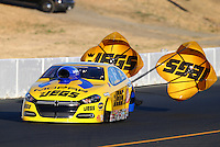 Jul. 25, 2014; Sonoma, CA, USA; NHRA pro stock driver Jeg Coughlin Jr during qualifying for the Sonoma Nationals at Sonoma Raceway. Mandatory Credit: Mark J. Rebilas-