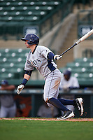 GCL Rays second baseman Daniel Robertson (48) at bat during the first game of a doubleheader against the GCL Orioles on August 1, 2015 at the Ed Smith Stadium in Sarasota, Florida.  GCL Orioles defeated the GCL Rays 2-0.  (Mike Janes/Four Seam Images)