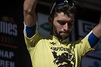 Race winner Fernando Gaviria (COL/Quick Step Floors)  <br /> <br /> 102nd Kampioenschap van Vlaanderen 2017 (UCI 1.1)<br /> Koolskamp - Koolskamp (192km