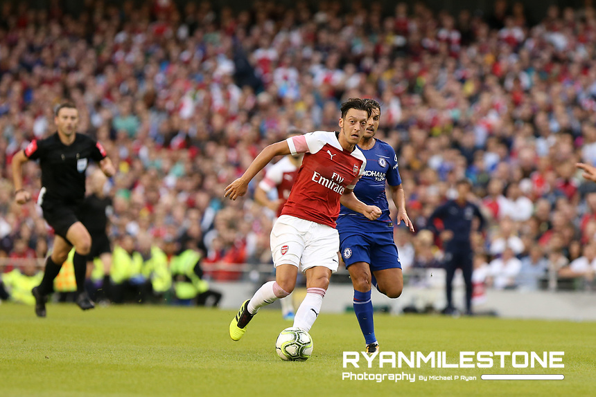 Mesut Özil of Arsenal during the International Champions Cup Game between Arsenal and Chelsea at the Aviva Stadium, Dublin. Photo By Michael P Ryan.