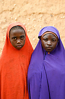 NIGER, Maradi, village Dan Bako, Hausa girls, young girls of poor families are faced with forced child marriage