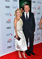 """LOS ANGELES, USA. November 17, 2019: Gillian Anderson & Peter Morgan at the gala screening for """"The Crown"""" as part of the AFI Fest 2019 at the TCL Chinese Theatre.<br /> Picture: Paul Smith/Featureflash"""