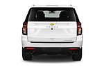 Straight rear view of 2021 Chevrolet Tahoe Premier 5 Door SUV Rear View  stock images