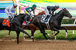 """DEL MAR, CA  AUGUST 21: The field of the TVG Pacific Classic (Grade l) Breeders Cup """"Win and You're In"""" Classic Division on August 21, 2021 at Del Mar Thoroughbred Club in Del Mar, CA. (Photo by Casey Phillips/Eclipse Sportswire/CSM)"""